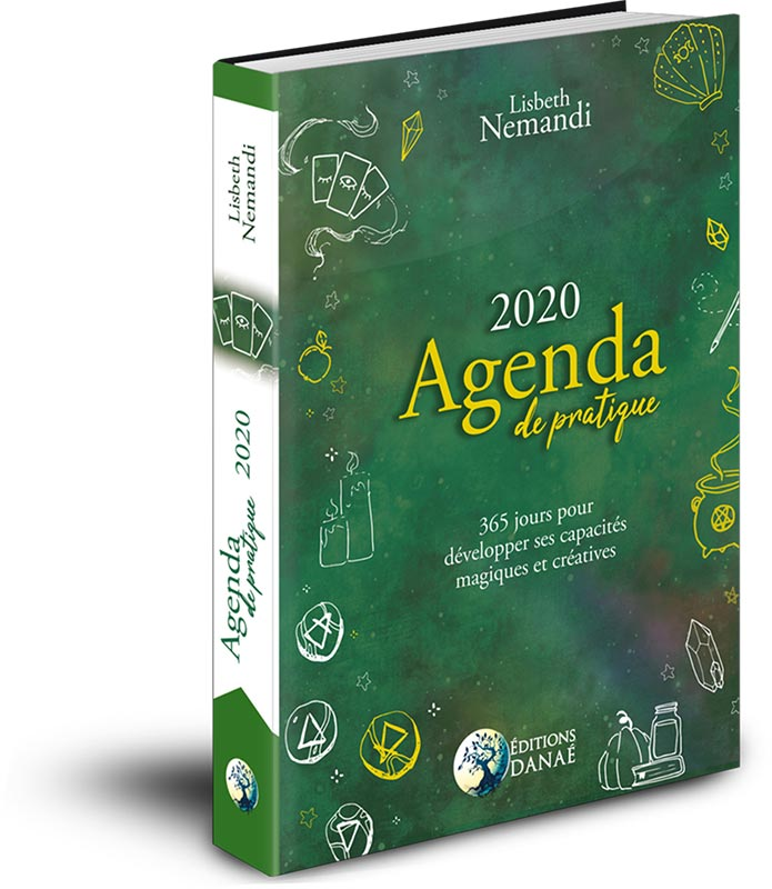 agenda-de-pratique-2020-lisbeth nemandi-agenda de pratique-editions danaé-agenda sorcière-bullet journal-bullet journal witchy-lisbeth