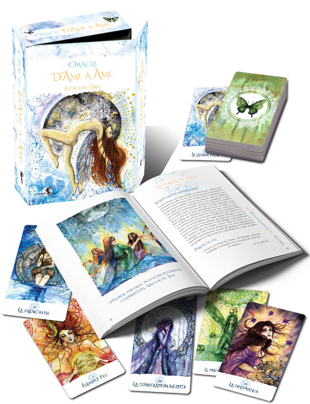 coffret-âme-à-âme-stephanie gras- âme à âme-introspection-voyance-arcana sacra-divination-oracles-oracle-tarot